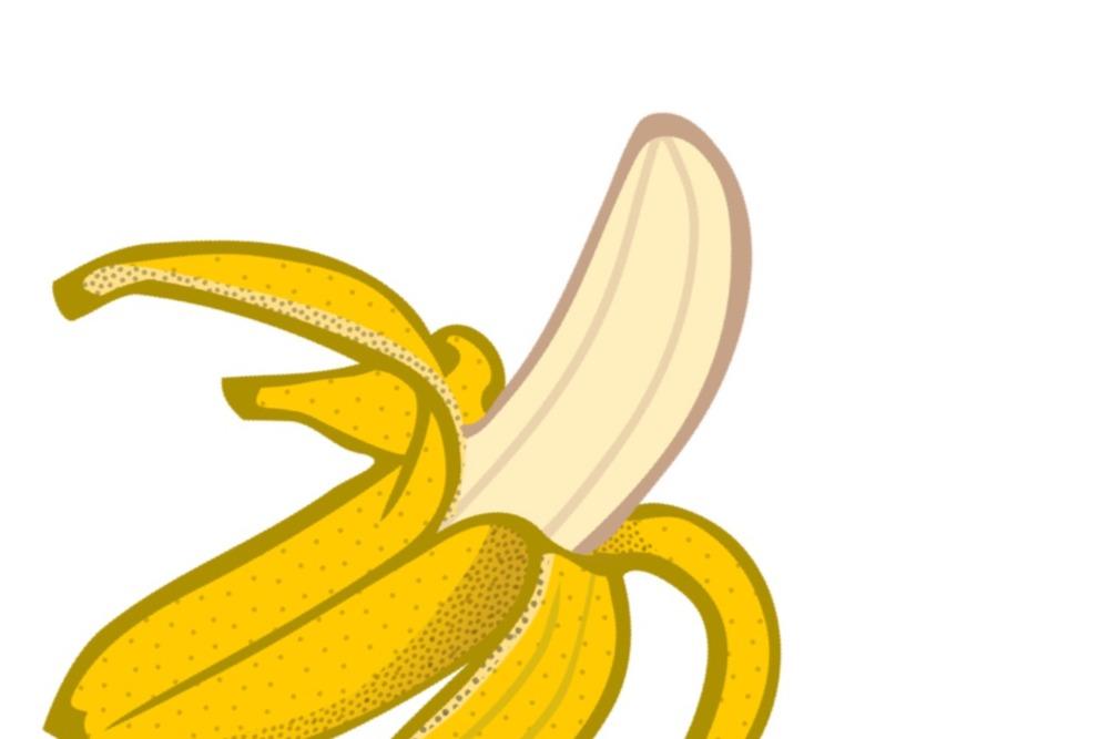皮を剥いたバナナ