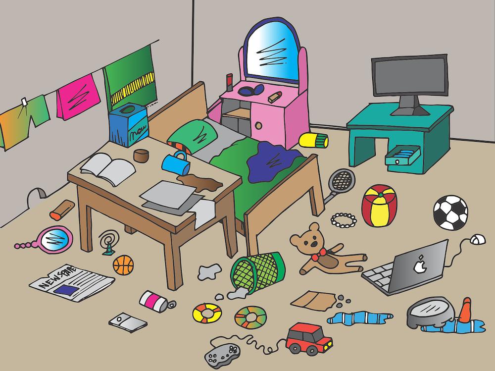 部屋の中にある生活雑貨
